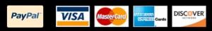 PayPalVisaMasterCardAmericanExpressDiscoverCardLogo