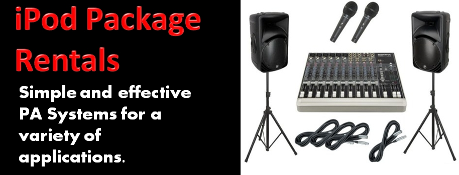 iPod Package PA System Rentals